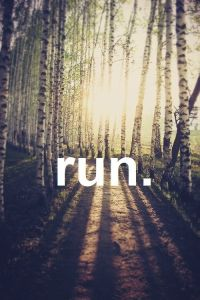 run graphic